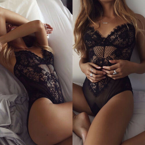 Sexy Womens Lingerie Lace Babydoll Sleepwear Underwear Nightwear Bodysuit AU New 8