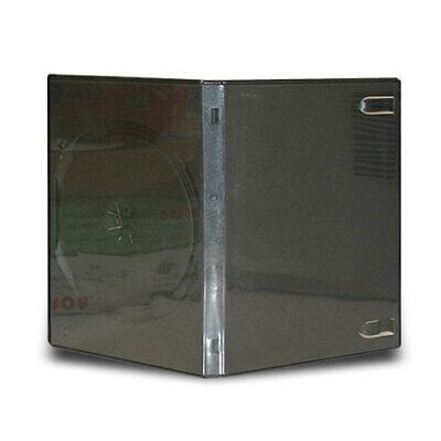 50 Standard 14mm Triple Multi 3 Disc CD DVD Black Storage Case Box 2