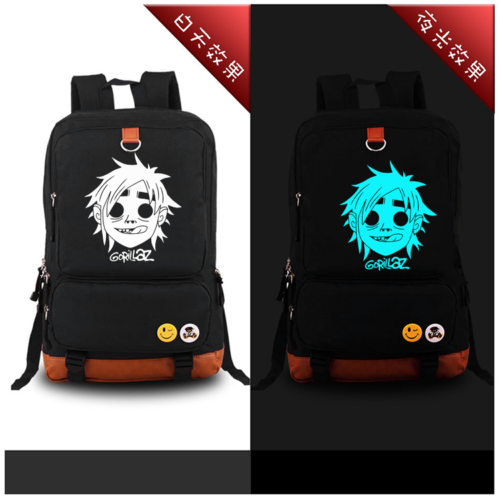Gorillaz Street Fighter shoulder Luminous Messenger backpak bag New Glow in Dark