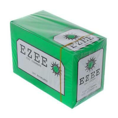 Full Box of Ezee Green Rolling Cigarette Papers Standard Size Cut Corner 3
