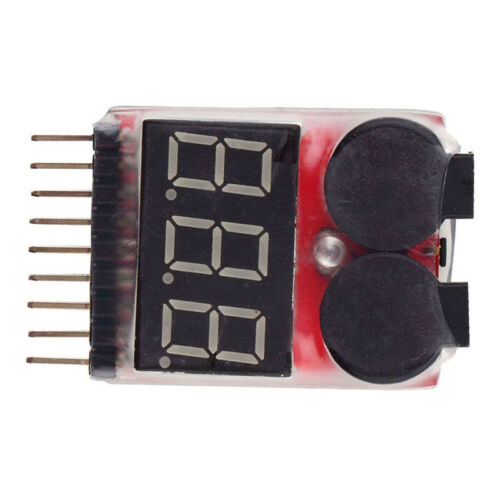 RC Buzzer 1-8S Lipo Alarm Warner Schutz Checker Voltage  Pieper LED Tester R3N3 10