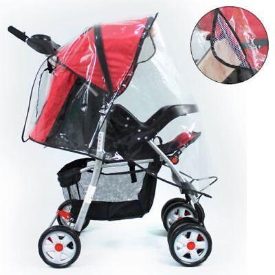 Universal Rain Cover Raincover For Buggy Pushchair Stroller Pram Baby Car UK L4U 2