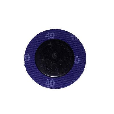 """100 2/"""" Roloc A//O Quick Change Sanding Disc 40 Grit and Mandrel Disc Holder"""