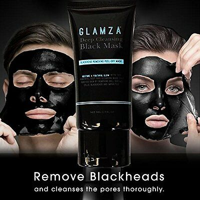 Glamza Charcoal Blackhead Remover Peel Off Facial Cleaning Black Face Mask 50g 5