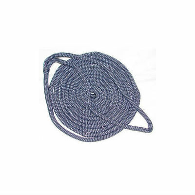 "Seachoice Double Braided Boat Marine Nylon Dock Line Rope 3//8/"" x 15/' Blue 40301"
