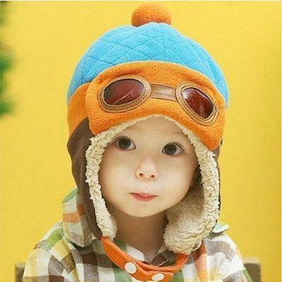 42986fb3b1b6c WINTER BABY EARFLAP Toddler Girl Boy Kids Pilot Aviator Cap Warm Soft  Beanie Hat