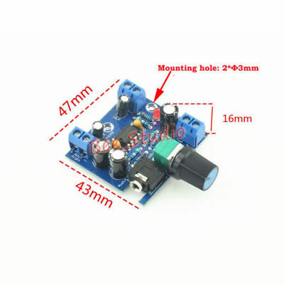 DC6V-12V TDA2822 Dual Channel Mini Audio Power Amplifier Board Volume AMP Module