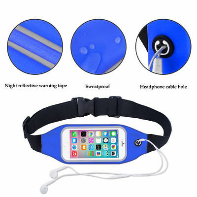 Sports Running Belt Waist Pocket Cycling Jogging Travel Wallet For Smart Phone 7