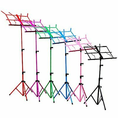 Music Stand 6 Colours Fully Adjustable Lightweight with Bag Sturdy Tubular Legs 2