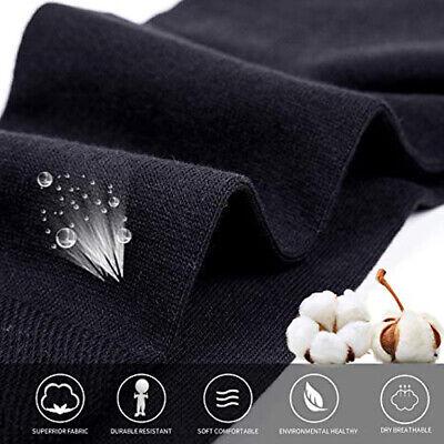 New 6 Pairs Mens Black Classic Dress Socks Cotton Casual Fashion Crew Solid Sox 4