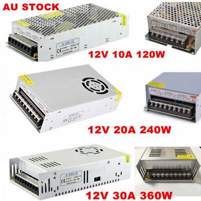 AC 110-240V TO DC 12V/24V 5A/10A/15A/20A/30A Transformer Regulated Power Supply 2