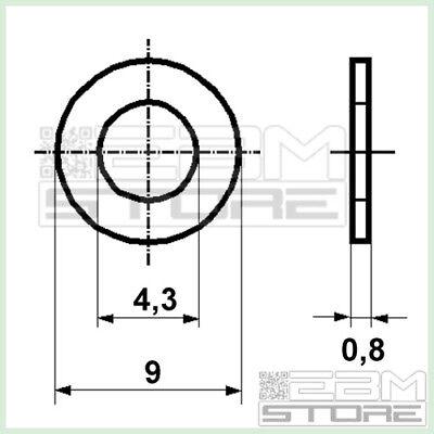 100 pz rondella M4 in nylon plastica - ART. HA07 2