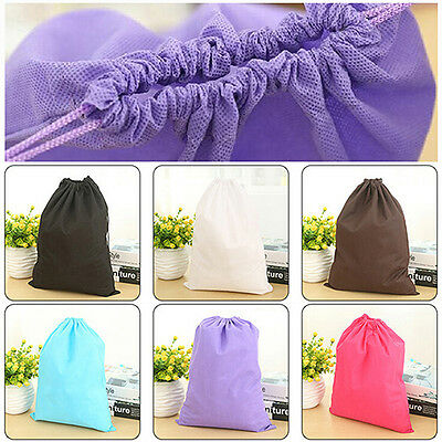 Laundry Shoe Travel Pouch Portable Tote Drawstring Storage Bag Organizer 2