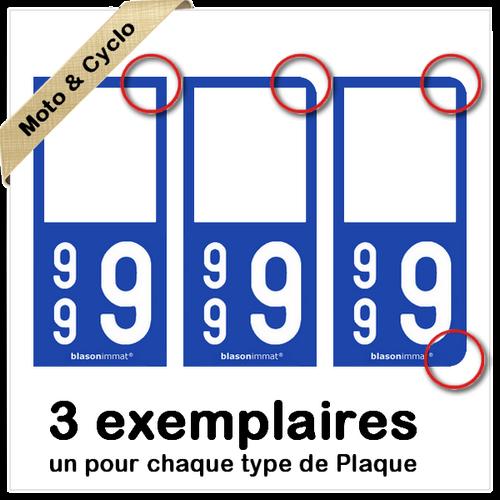 2 Stickers autocollant plaque immatriculation 9G Pieds-Noirs