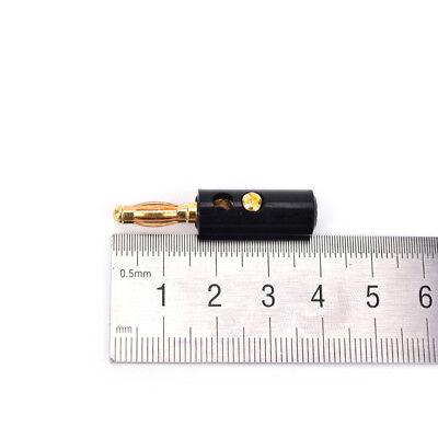 10X 4mm Audio Lautsprecher Schraube Bananenstecker Stecker Audio KabelDDEWZS M0