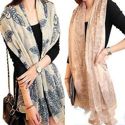 147849b07909c ... 4 of 11 Women Long Neck Large Scarf Wrap Shawl Pashmina Scarves Chiffon  Cotton Fashion 5