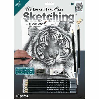 Animals Sketching Made Easy Drawing Kits & Graphite Pencils Set 4