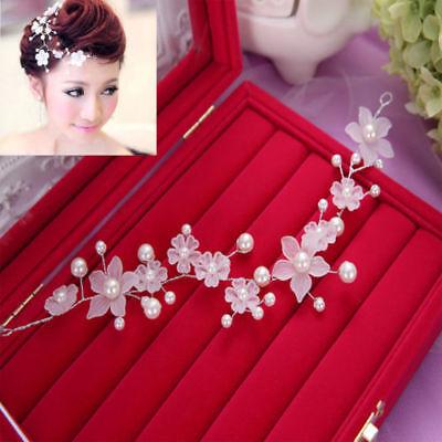 White Floral Flowers Wedding Bridal hair Accessories Clip Tiara Headband Piece