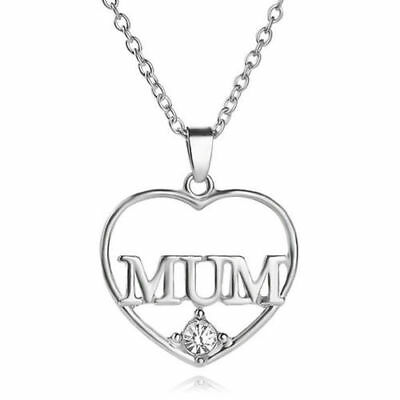 Mum Gold Crystal Necklace & Pendant NEW* Birthday Christmas Mothers Day Gift 6