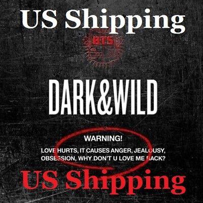 US SHIPPING BTS-[Dark&Wild] Album CD+PhotoBook+PhotoCard DARK and WILD 2