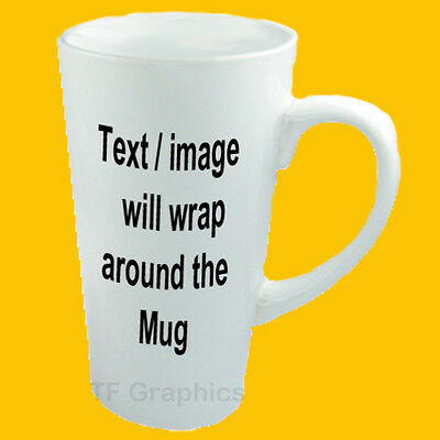 PERSONALISED 17oz LATTE MUG COLLAGE PHOTO IMAGE PICTURE TEXT GIFT TEA COFFEE 9