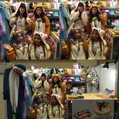 Pigiama intero costume animale kigurumi unisex carnevale Halloween festa cosplay 12