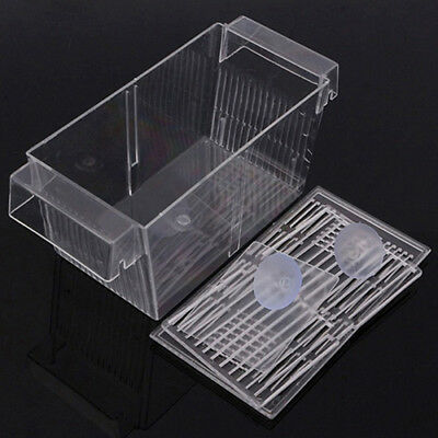 Hot Aquarium Fish Tank Guppy Double Breeding Breeder Rearing Trap Box Hatchery 8