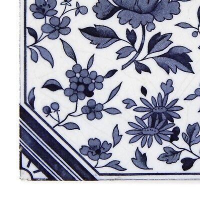 Antique Tile Victorian Aesthetic Japonesque Floral International Tile Delft Blue 6