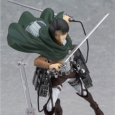 HOT Anime Shingeki No Kyojin Attack on Titan 15cm Rivaille Action Figure PVC Toy 2
