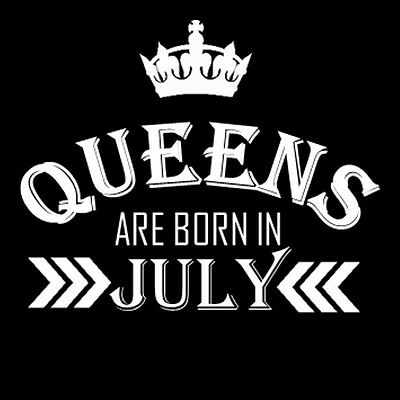 Tank Top Birthday Gift for Women Shirt Queens Are Born in July TShirt Sleeveless