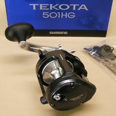 New Shimano Tekota 501 Conventional Reel Left LH RETREIVE 6.3:1 TEK501HGA