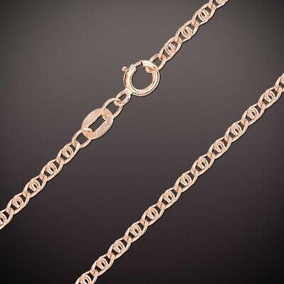 Kette Russisches Rose Gold 14kt Rotgold 585 Halskette Singapur  3.0 mm