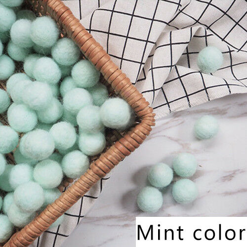 10pcs Fluffy Wool Felt Balls DIY Nursery Garland Decor Pram Hanging Ornament New 8