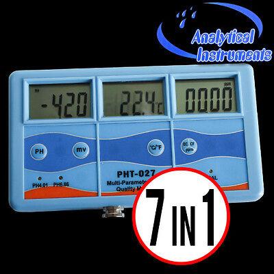 7-In-1 Multi Meter Tester Ec Cf Tds Ph °C °F Redox  3 Lcd Displays P15 4