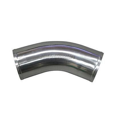 """45 Degree Universal Aluminum Mandrel Bent Polished Pipe CXRacing 2pcs 2.5/"""" O.D"""