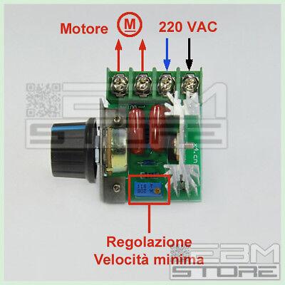 Driver AC 2000W 220V - Dimmer regolatore di velocità giri - ART. CO11 5