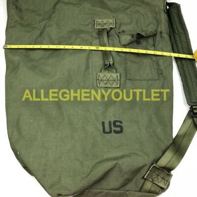 US Military Army DUFFEL DUFFLE SEA BAG LUGGAGE Top Load 2 Strap OD NYLON NICE 2