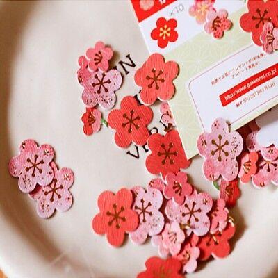 40x popular Japanese Cherry/Plum Flowers Craft Scrapbooking Sakura sticker DIY 3