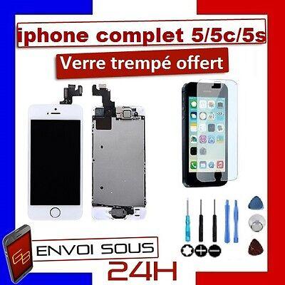 Vitre Tactile + Ecran Lcd Complet  Iphone 5/ 5C / 5S 5 Se Noir/Blanc + Outils 2