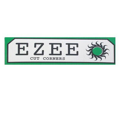Full Box of Ezee Green Rolling Cigarette Papers Standard Size Cut Corner 2