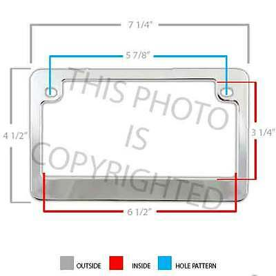 Chrome Metal Motorcycle License Plate Frame Hex Tag Bolt Kit IRISH CLOVER