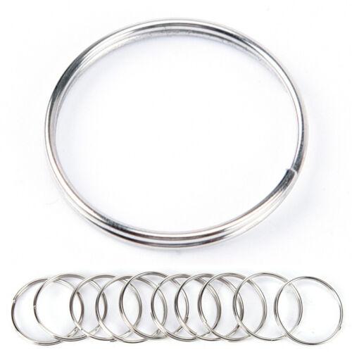 40x Stainless Steel Keyring Split Key Rings Hoop 20mm Double Loop Connectors