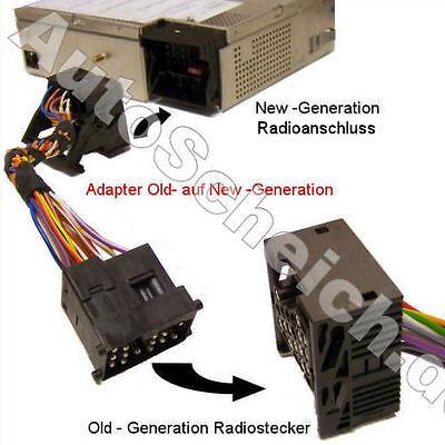 Neu auf Alt Adapter BMW E39 E46 3er 5er new old connector Radio CD Wechsler