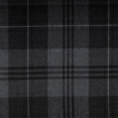 Fly Plaid Tartan Grey Granite Fringed Kilt Made In Scotland Highland Gents Wear 3