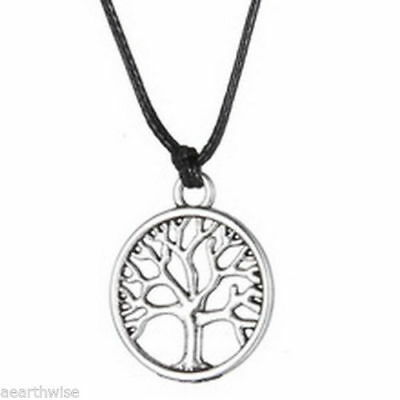 1 x TREE OF LIFE PENDANT WITH CORD Wicca Pagan Witch Goth Druid
