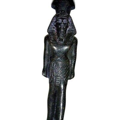 Rare Ancient Egyptian Pharaoh King Ramsis II Statue Great Stone Black 1279 BC 2