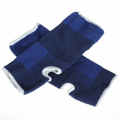 ... 2 Stretch Elastic Ankle Support Protection Arc Brace Wrap Guard Sports Gym Blue 3