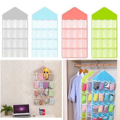 16 Pockets Door Wardrobe Hanging Organizer Bag Shoe Rack Hanger Closet Storage L 8