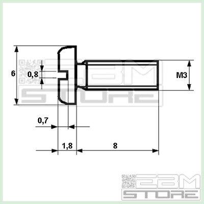 GZ02 100 pz BULLONE M3 in nylon vite plastica distanziali ART