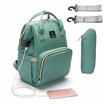 USB Interface Maternity Diaper Bag Mom Backpack Large Capacity Baby Nursing Bag 2